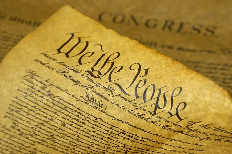 Wee the People ... a photo of the US Constitution